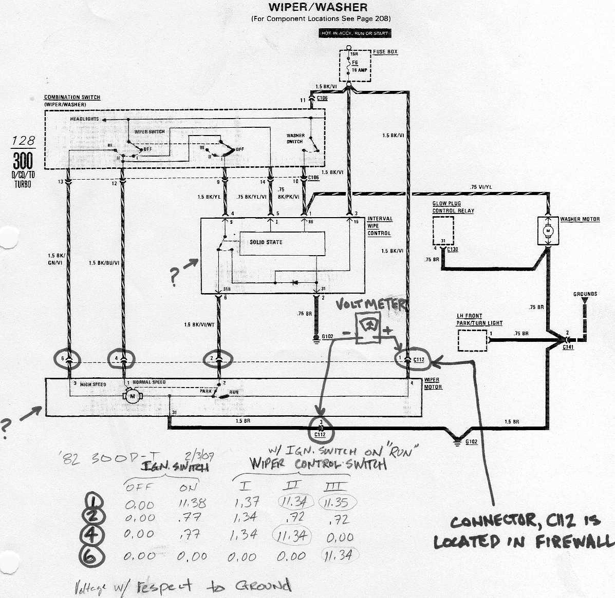 94 S10 Wiper Motor Wiring Diagram