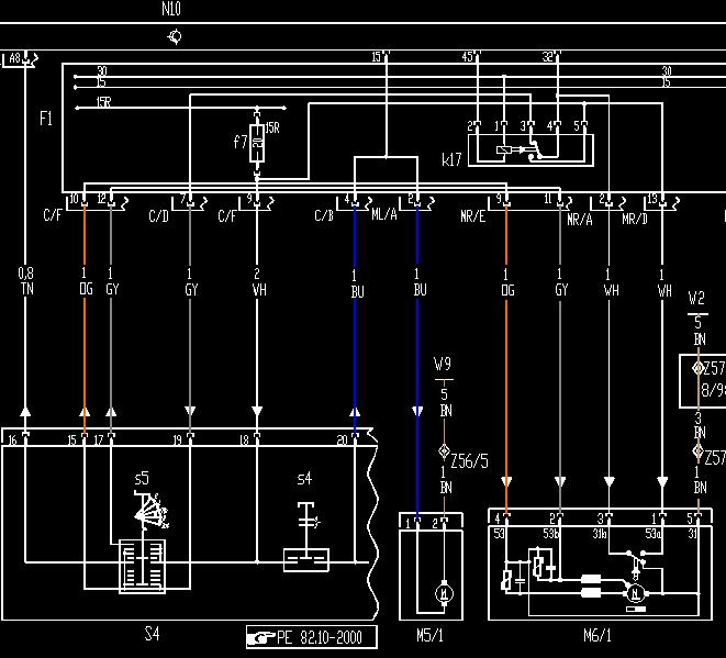 wiper motor wiring schematic MercedesBenz Forum