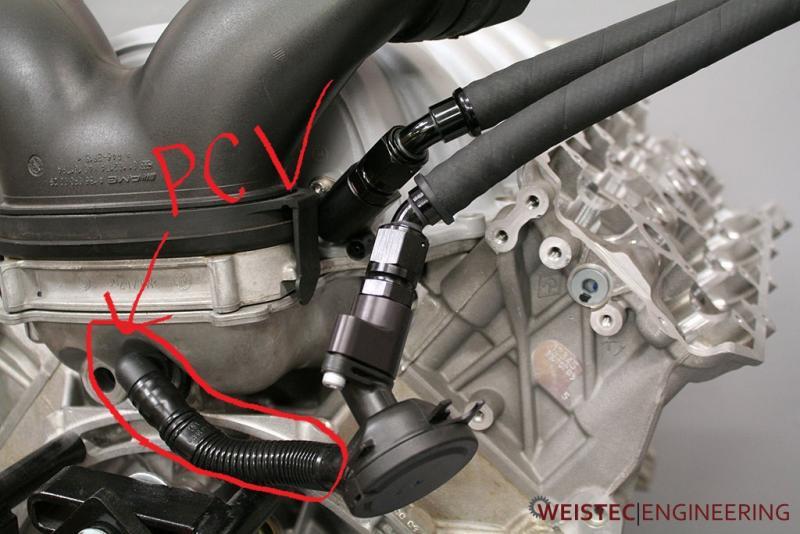 W211 E63 Intake Manifold Vacuum Hose With Check Valve