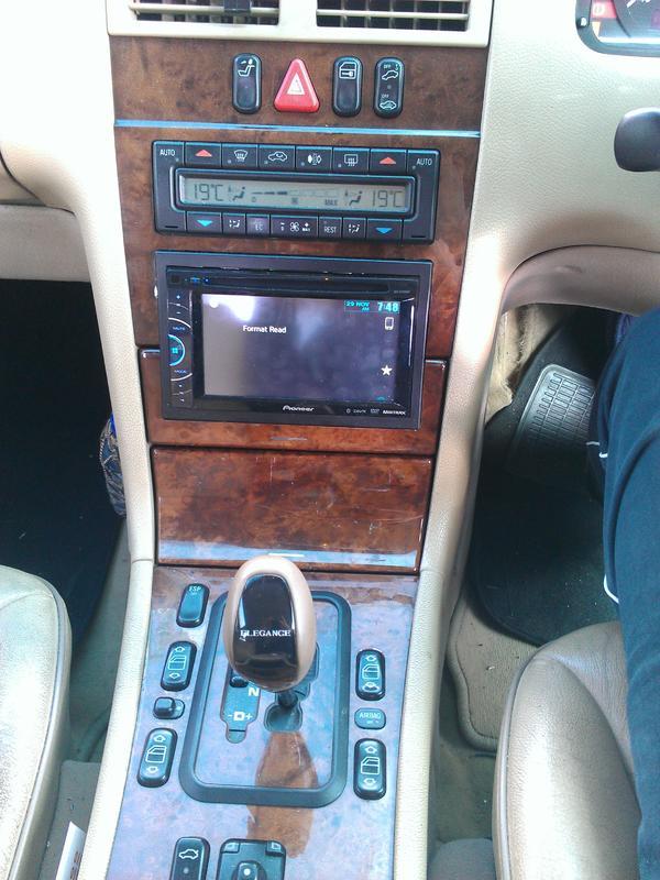 W210 Double Din Conversion Mercedes Benz Forum