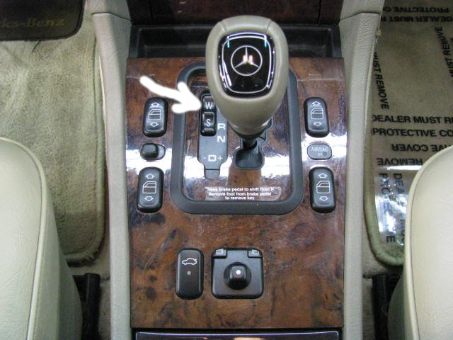 What Is The Quot W S Quot Switch Near The Shift Mercedes Benz