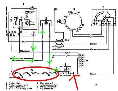 OM617 sensors and glow plugs - Mercedes-Benz Forum on 7 plug truck wiring diagram, 6.9 glow plug wiring diagram, cucv glow plug wiring diagram, spark plug wiring diagram, coil relay wiring diagram, 2001 f250 glow plug diagram, 7.3l glow plug wiring diagram, fan relay wiring diagram, glow plug wiring 7.3 diesel, fog light relay wiring diagram, l3010 glow plug diagram, cat 6 plug wiring diagram, horn relay wiring diagram, flasher relay wiring diagram, glow plug relay tutorial, headlight relay wiring diagram, 6.2 glow plug controller diagram, headlamp relay wiring diagram, duramax glow plug wiring diagram, 6 plug wire diagram,