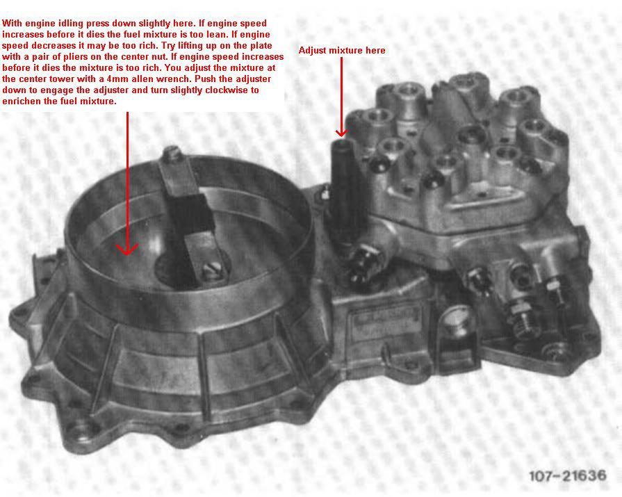 Air - Fuel Adjustment Screw Location ?? | Mercedes-Benz Forum