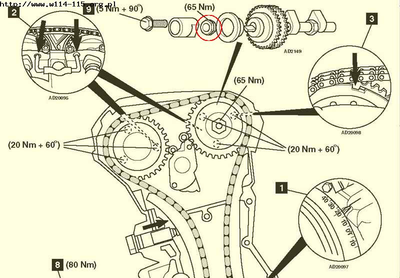 Mercedes 1999 C230K kompressor M111 timing chain issue