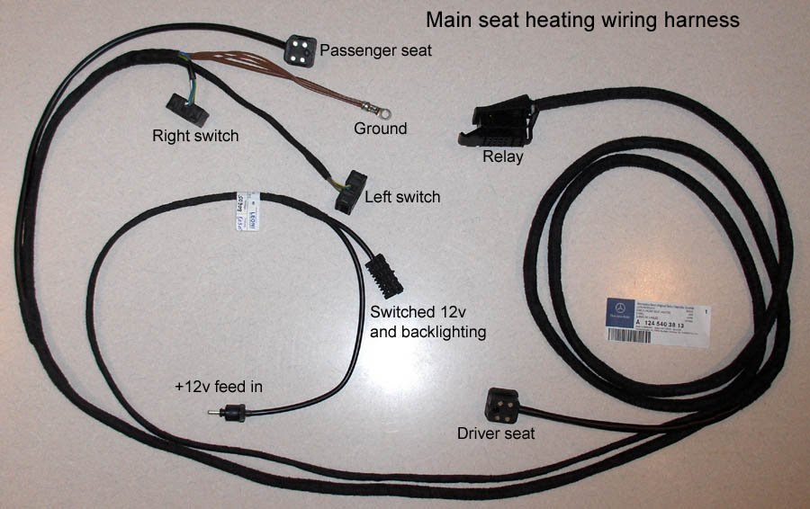 300e - Adding heated seats | Mercedes-Benz Forum Aftermarket Heated Seats Wiring Diagram on