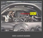 WHERE IS THE DAS (DRIVE AUTHORIZATION SYSTEM) MODULE LOCATED