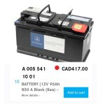 BRAND NEW! AGM BATTERY 12V 95AH 850 A